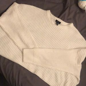 slouch crop top knit sweater